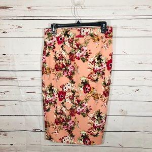 Love culture Pencil floral skirt elastic waist Lg